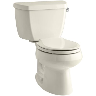 Wellworth Classic 1.28 GPF Round Two-Piece Toilet Finish: Almond