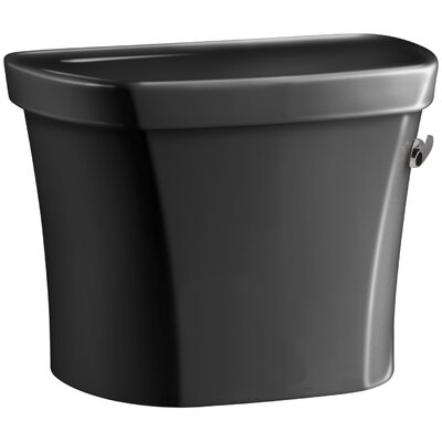 "Wellworth 1.28 GPF Tank, 14"" Rough-In with Insuliner Tank Liner and Right-Hand Trip Lever Finish: Black Black K-4841-UR-7"