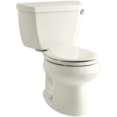 Wellworth Classic 1.28 GPF Round Two-Piece Toilet Finish: Biscuit