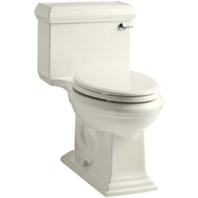 Memoirs Classic Comfort Height One-Piece Elongated 1.28 GPF Toilet with Aquapiston Flush Technology and Right-Hand Trip Lever Finish: Biscuit