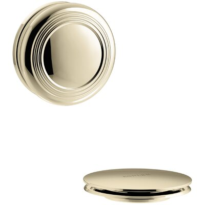 PureFlo Traditional Push Button Bath Drain Trim Finish: Vibrant French Gold