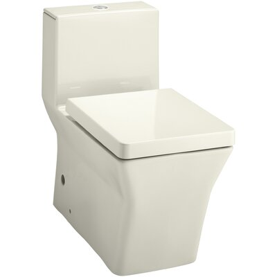 R�ve Comfort Height Skirted One-Piece Elongated Dual-Flush Toilet with Top Actuator Finish: Biscuit