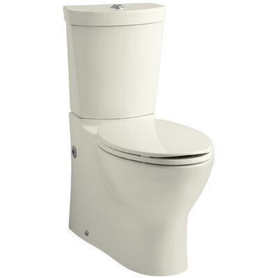 Persuade Skirted Two-Piece Elongated Dual-Flush Toilet with Top Actuator Finish: Biscuit