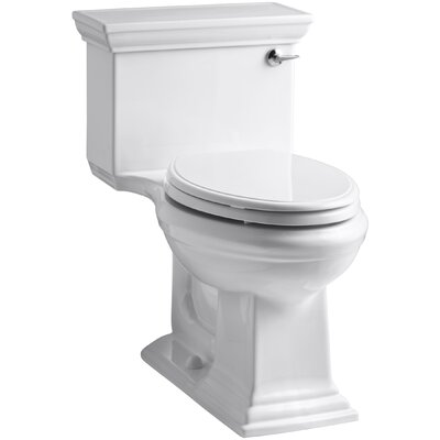Memoirs Stately Comfort Height One-Piece Elongated 1.28 GPF Toilet with Aquapiston Flush Technology and Right-Hand Trip Lever Finish: White