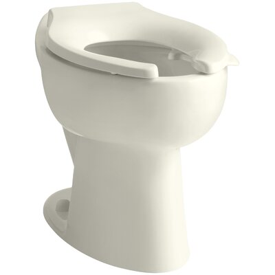 Highcrest 1.6 GPF 16-1/2 Ada Elongated Toilet Bowl with Rear Inlet and Bedpan Lugs, Requires Seat Finish: Biscuit
