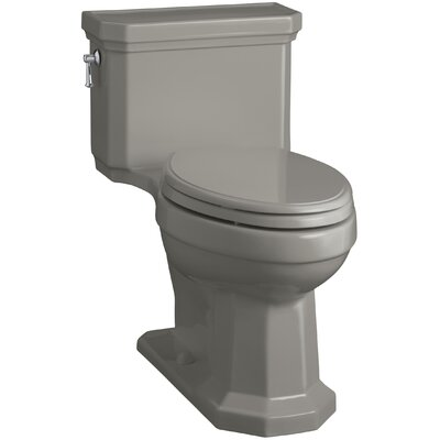 Kathryn Comfort Height Elongated One-Piece 1.28 GPF Toilet with Aquapiston Flush Technology, Left-Hand Trip Lever and Concealed Trapway Finish: Cashmere