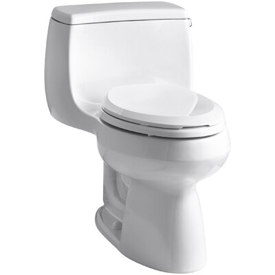 Gabrielle Comfort Height 1.28 GPF Elongated One-Piece Toilet Finish: White