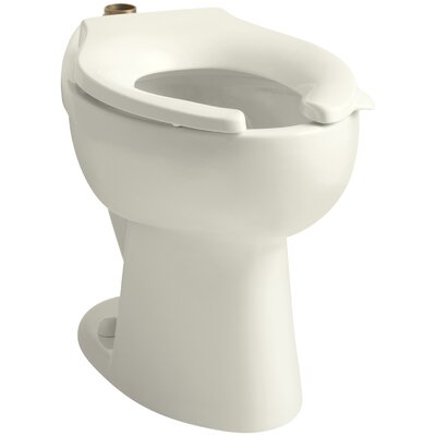 Highcrest 1.6 GPF 16-1/2 Ada Elongated Toilet Bowl with Top Inlet, Requires Seat Finish: Biscuit