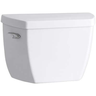 Highline Classic Toilet Tank with Pressure Lite Flushing Technology and Tank Cover Locks Finish: White