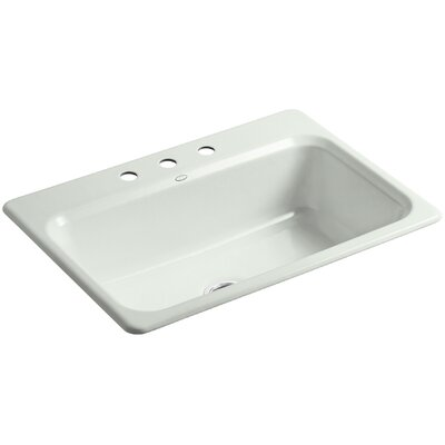Bakersfield 31 x 22 x 8-5/8 Top-Mount Single-Bowl Kitchen Sink Finish: Sea Salt, Faucet Drillings: 4 Hole
