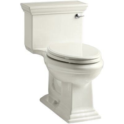 Memoirs Stately Comfort Height One-Piece Elongated 1.28 GPF Toilet with Aquapiston Flush Technology and Right-Hand Trip Lever Finish: Biscuit