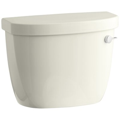 Cimarron 1.6 GPF Toilet Tank with Aquapiston Flush Technology, Right-Hand Trip Lever and Tank Locks Finish: Biscuit