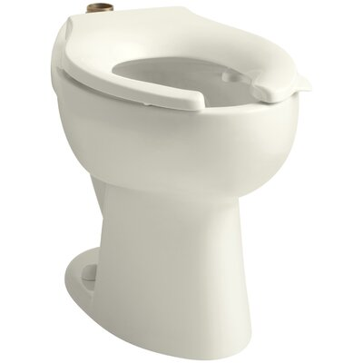 Highcrest 1.6 GPF 16-1/2 Ada Elongated Toilet Bowl with Top Inlet and Bedpan Lugs, Requires Seat Finish: Biscuit