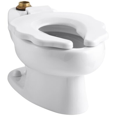 "Primary 1.6 GPF Flushometer Valve 10-3/4"" Elongated Toilet Bowl with Seat Finish: White K-4321-0"
