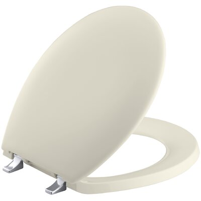 Bancroft Round-Front Toilet Seat Finish: Almond, Hinges: Standard