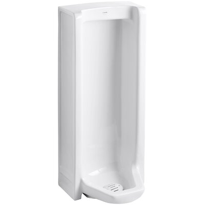 Branham Washout Floor-Mount 1 GPF Urinal with Rear Spud Finish: White