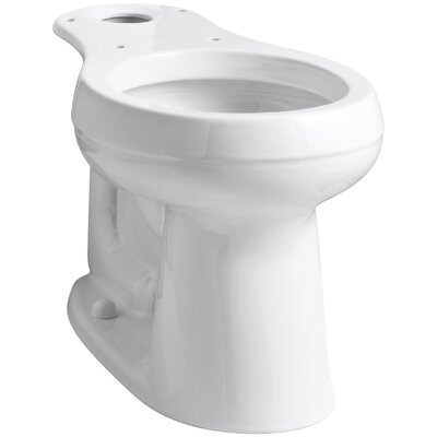 Cimarron Comfort Height Round Toilet Bowl Finish: White