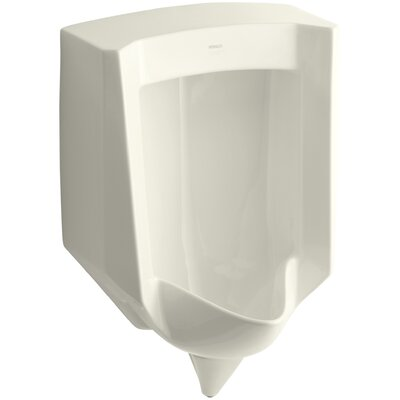 Stanwell Blow-Out Wall-Mount 1 GPF Urinal with Rear Spud Finish: Biscuit