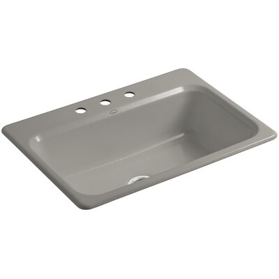 Bakersfield 31 x 22 x 8-5/8 Top-Mount Single-Bowl Kitchen Sink Finish: Cashmere, Faucet Drillings: 3 Hole