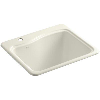 River Falls Metal Rectangular Drop-In Bathroom Sink Finish: Biscuit, Number of Faucet Holes: 1