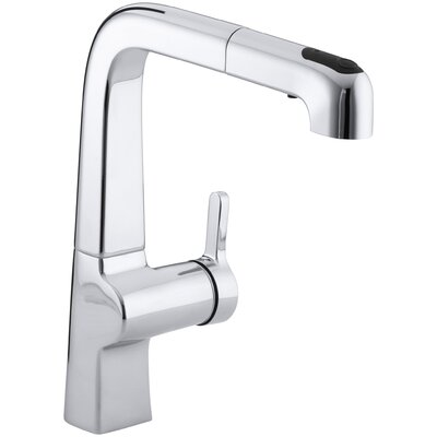 Evoke Single-Hole Kitchen Sink Faucet with 9 Pullout Spout Finish: Polished Chrome
