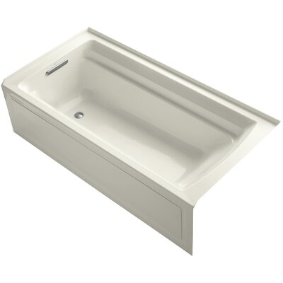 Archer 72 x 36 Soaking Bathtub Finish: Biscuit, Drain Location: Left