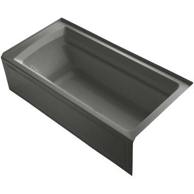Archer 72 x 36 Soaking Bathtub Finish: Ice Grey, Drain Location: Right