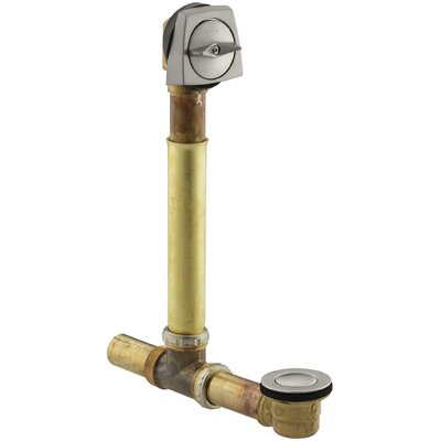 Clearflo 1-1/2 Adjustable 3.69 Trip Lever Bathroom Sink Drain Finish: Vibrant Brushed Nickel