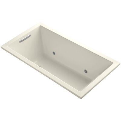 Underscore 60 x 32 Soaking Bathtub Finish: Almond