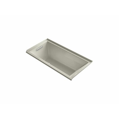 Underscore 60 x 30 Air Bathtub Finish: Sandbar, Drain Location: Left