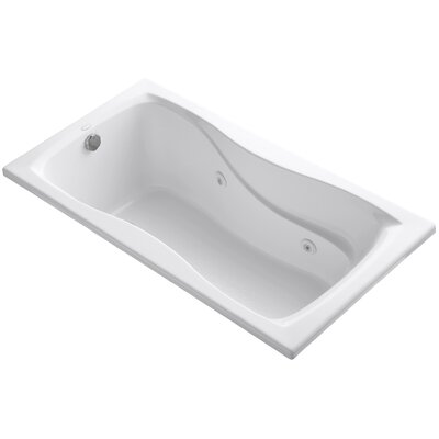 Hourglass 60 x 32 Whirlpool Bathtub Finish: White