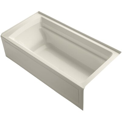 Archer 72 x 36 Soaking Bathtub Finish: Almond, Drain Location: Right