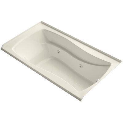 Mariposa Alcove 66 x 36 Whirpool Bathtub Finish: Almond