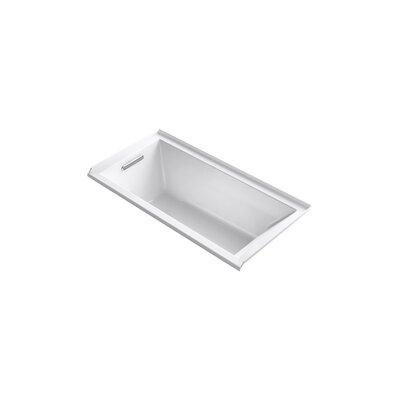 Underscore 60 x 30 Soaking Bathtub Finish: White, Drain Location: Left