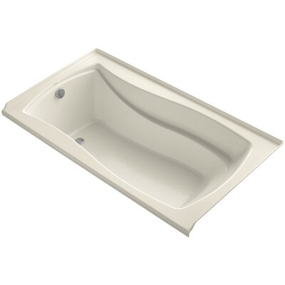 Mariposa Vibracoustic 66 x 36 Soaking Bathtub Finish: Biscuit, Drain Location: Right