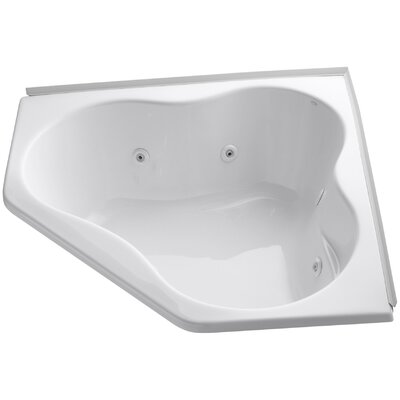 Alcove 54 x 54 Whirpool Bathtub Finish: White