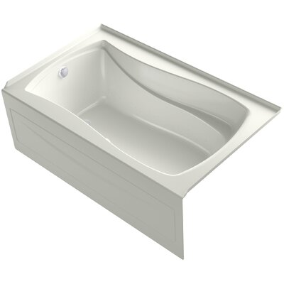 Mariposa Bubblemassage 60 x 36 Soaking Bathtub Finish: Dune, Drain Location: Left