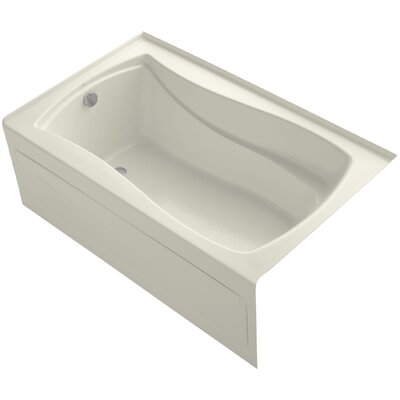 Mariposa 60 x 36 Soaking Bathtub Finish: Biscuit, Drain Location: Left