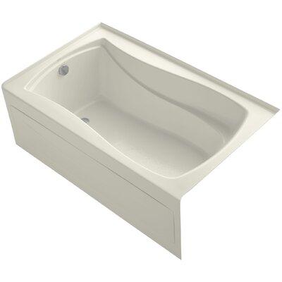 Mariposa 60 x 36 Soaking Bathtub Finish: Biscuit, Drain Location: Left