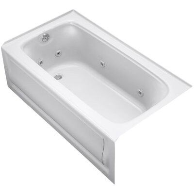 Bancroft Alcove 60 x 32 Whirpool Bathtub Sink Finish: White