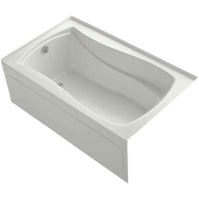 Mariposa Alcove 60 x 36 Soaking Bathtub Finish: Dune, Drain Location: Left