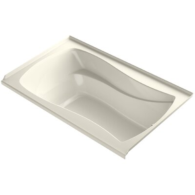 Mariposa Alcove Bubblemassage 60 x 36 Soaking Bathtub Finish: Biscuit, Drain Location: Right