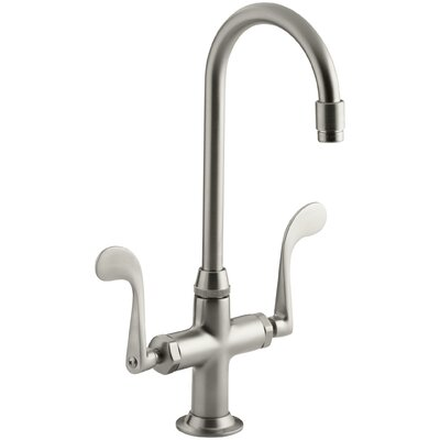 Essex Double Handle Kitchen Faucet with Wristblade Handles Finish: Vibrant Brushed Nickel