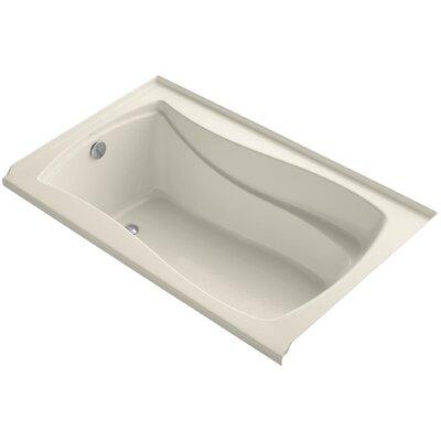 Mariposa Alcove Vibracoustic 60 x 36 Soaking Bathtub Finish: Almond, Drain Location: Left