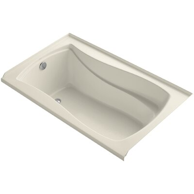Mariposa Alcove Vibracoustic 60 x 36 Soaking Bathtub Finish: Almond, Drain Location: Left