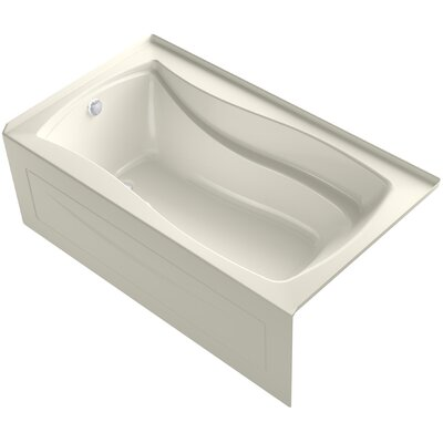Mariposa Alcove Bubblemassage 66 x 36 Soaking Bathtub Finish: Biscuit, Drain Location: Left