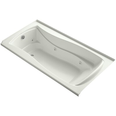 Mariposa Alcove 72 x 36 Whirpool Bathtub Finish: Dune, Drain Location: Left