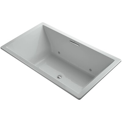 Underscore 72 x 42 Air Bathtub Finish: Ice Grey