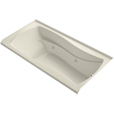 Mariposa Alcove 72 x 36 Whirpool Bathtub Finish: Almond, Drain Location: Right