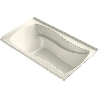 Mariposa Alcove Bubblemassage 66 x 36 Soaking Bathtub Finish: Biscuit, Drain Location: Right